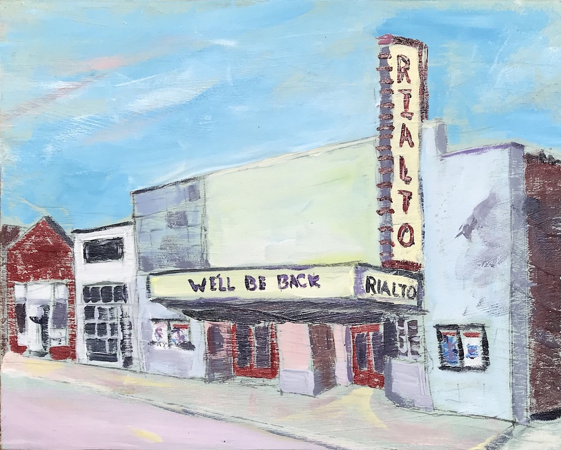 Rialto Theatre Raleigh original painting by archetype