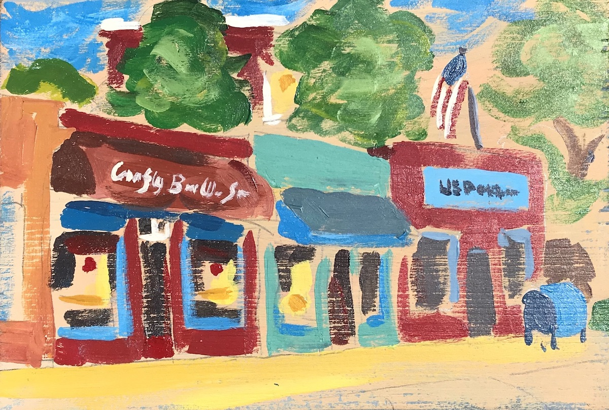 painting of local business raleigh