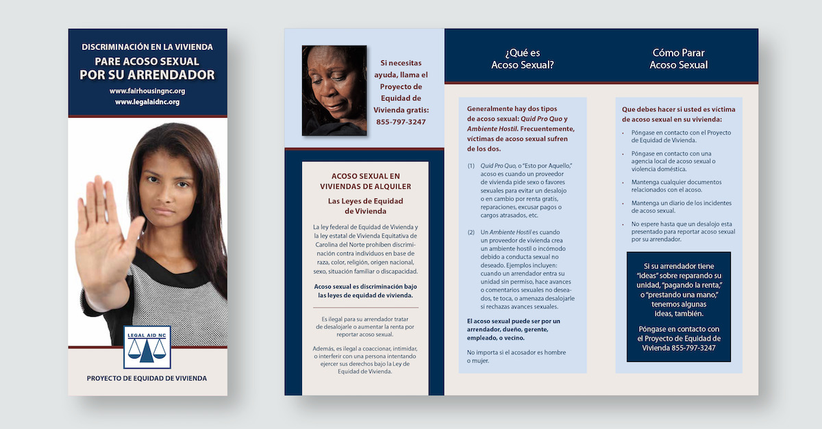 Legal Aid NC print materials